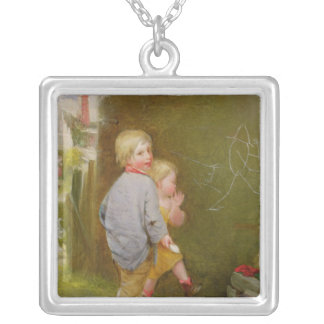 Strokes of Genius Silver Plated Necklace