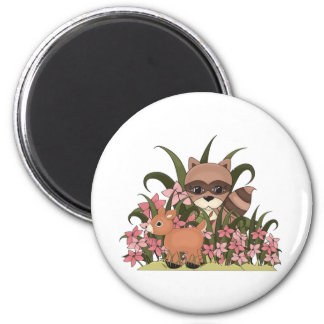 Stroll in the park 6 cm round magnet