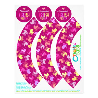 Stroller Chic Cupcake Wrappers & Toppers (Girly) 21.5 Cm X 28 Cm Flyer