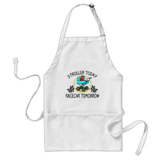 Stroller Today, Racecar Tomorrow Adult Apron