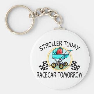 Stroller Today, Racecar Tomorrow Basic Round Button Key Ring
