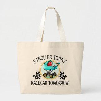 Stroller Today, Racecar Tomorrow Tote Bags