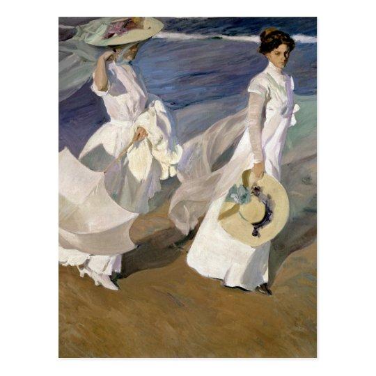 Strolling along the Seashore, 1909 Postcard