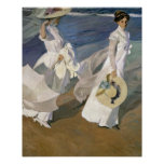 Strolling along the Seashore, 1909 Posters