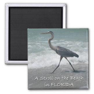Strolling Blue Heron Magnet