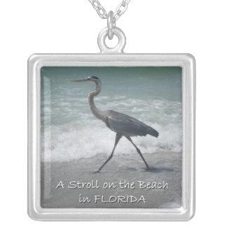 Strolling Blue Heron Necklace