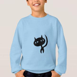 Strolling Cat Silhouette Sweatshirt