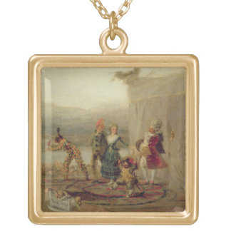 Strolling Players 1793 oil on tin plate Necklaces