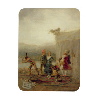 Strolling Players, 1793 (oil on tin plate) Rectangular Photo Magnet