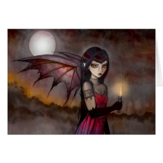Strolling Victoria Vampire Greeting Card