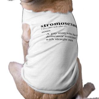 STROMOSEXUAL SLEEVELESS DOG SHIRT