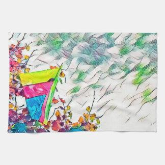 Stromy Hang Gliding Kite Tea Towel