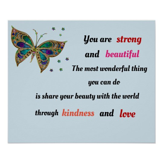 Strong and Beautiful butterfly Poster