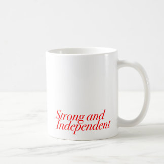 Strong and Independent (Customizable Color) Basic White Mug