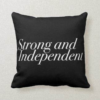 Strong and Independent (Customizable Color) Throw Cushion