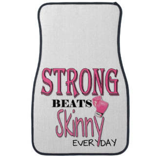 STRONG BEATS Skinny everyday! W/Pink Boxing Gloves Floor Mat