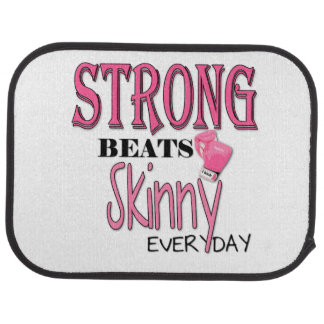 STRONG BEATS Skinny everyday! W/Pink Boxing Gloves Car Mat