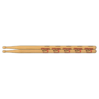 STRONG BEATS Skinny everyday! W/Pink Boxing Gloves Drumsticks
