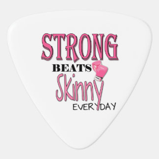 STRONG BEATS Skinny everyday! W/Pink Boxing Gloves Guitar Pick