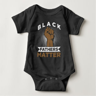 Strong Black Father Matter Black History Afro Dad Baby Bodysuit