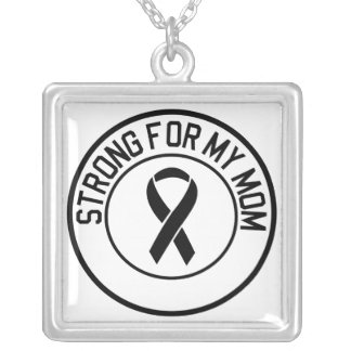 Strong for my mom silver plated necklace