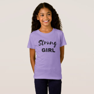Strong Girl Kid's T-shirt (Black Print)