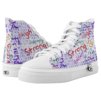 Strong Graffiti Printed Shoes
