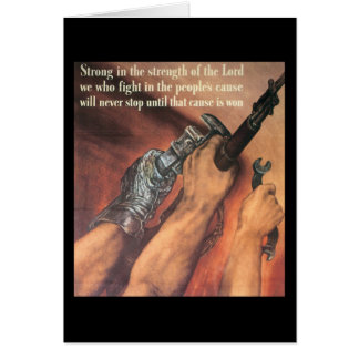 Strong In Strength World War 2 Greeting Card