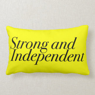 Strong & Independent Black On Yellow Customizable Throw Cushion
