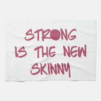 Strong is the New Skinny Motivational Workout Gym Tea Towel