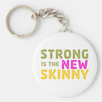 Strong is the New Skinny - Sketch Key Ring