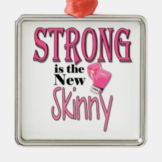 STRONG is the new Skinny! With Pink Boxing Gloves Christmas Ornament