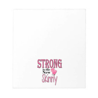 STRONG is the new Skinny! With Pink Boxing Gloves Notepad
