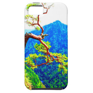 Strong life mountain top tree peek view tatra pola cover for iPhone 5/5S