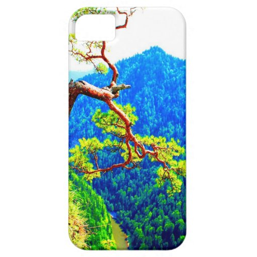 Strong life mountain top tree peek view tatra pola iPhone 5 cover