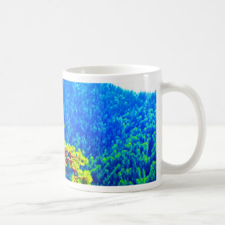Strong life mountain top tree peek view tatra pola coffee mug