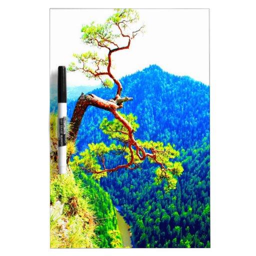 Strong life mountain top tree peek view tatra pola Dry-Erase whiteboard