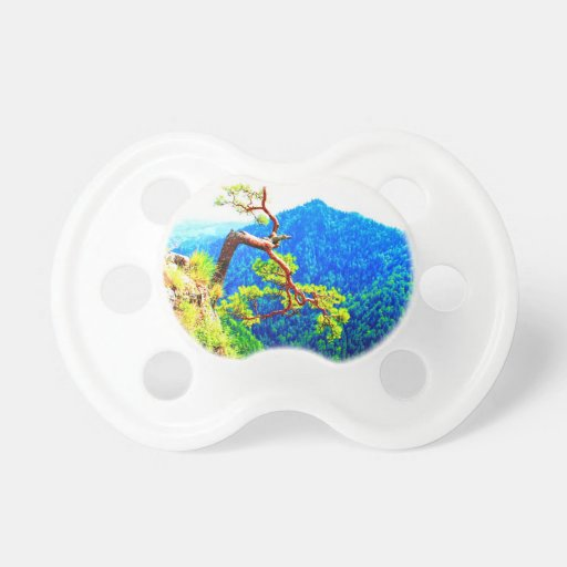 Strong life mountain top tree peek view tatra pola baby pacifiers