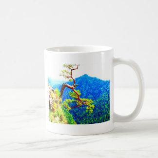 Strong life mountain top tree peek view tatra pola coffee mugs