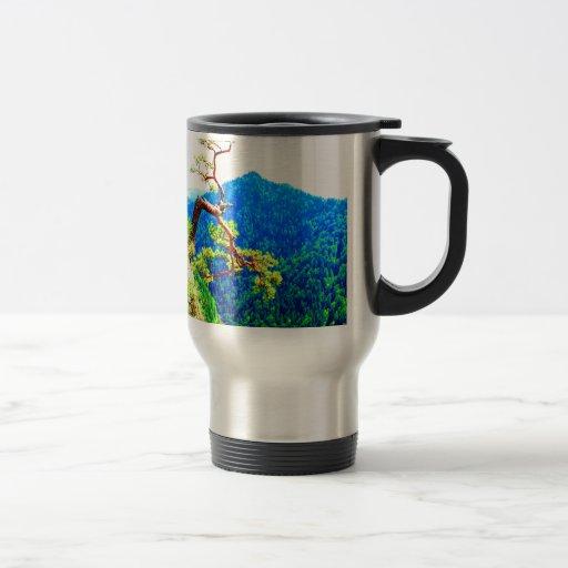 Strong life mountain top tree peek view tatra pola coffee mug