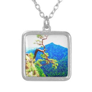 Strong life mountain top tree peek view tatra pola necklaces