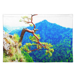 Strong life mountain top tree peek view tatra pola placemat