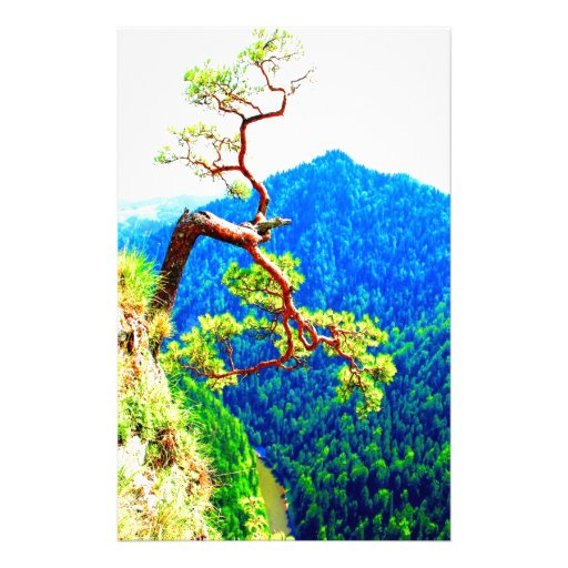 Strong life mountain top tree peek view tatra pola customized stationery
