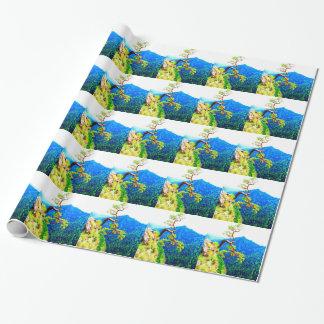Strong life mountain top tree peek view tatra pola wrapping paper