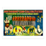 Strong Men Circus Show Vintage 1898 Poster Postcard