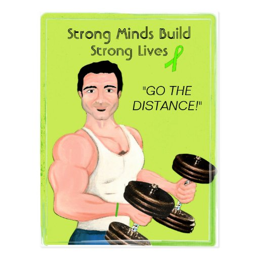 Strong Minds Build Strong Lives / Mental Health A. Postcard