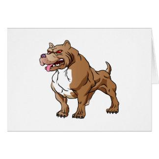 strong pitbull bodybuilder. greeting card