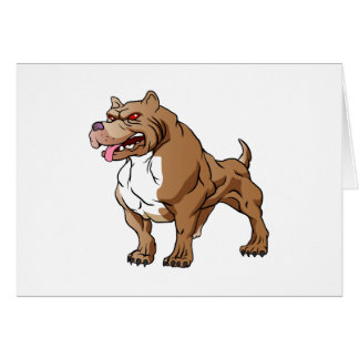 strong pitbull bodybuilder. note card