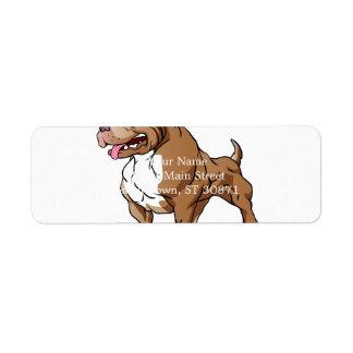 strong pitbull bodybuilder. return address label