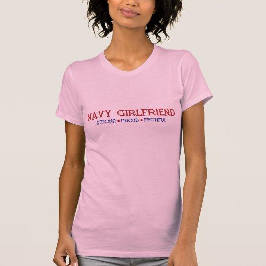 Strong Proud Faithful - Navy Girlfriend T-Shirt
